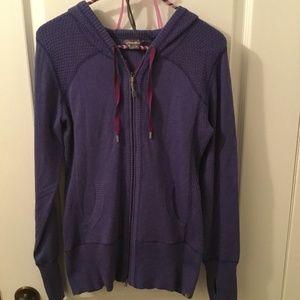 Eddie Bauer purple zip up hooded sweater